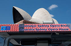 Australia - Sydney Opera House outside of the Arena at 2010 FIBA World Championships on September 4, 2010 at Sinan Erdem Arena in Istanbul, Turkey. (Photo By Vid Ponikvar / Sportida.com)