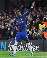 Football - 2019 / 2020 UEFA Champions League - Group H: Chelsea vs. Lille OSC<br /> <br /> Tammy Abraham of chelsea celebrates scoring goal no 1, at Stamford Bridge.<br /> <br /> COLORSPORT/ANDREW COWIE
