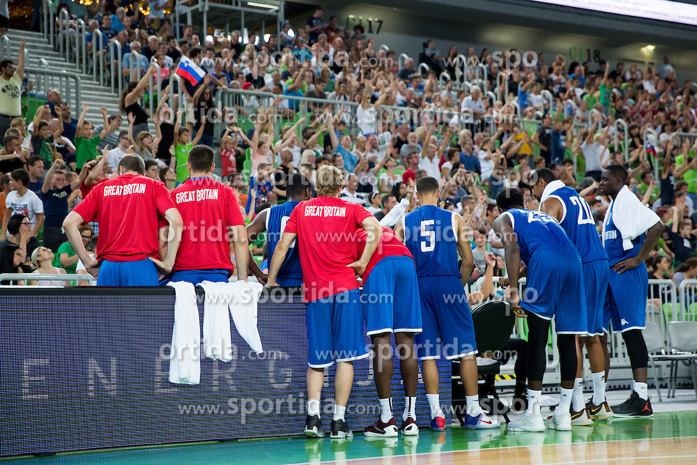 Players of G. Britain during friendly basketball match between National teams of Slovenia and G. Britain, on August 20, 2016 in Arena Stozice, Ljubljana, Slovenia. Photo by Urban Urbanc / Sportida