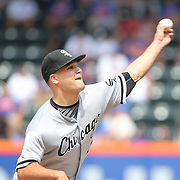 NEW YORK, NEW YORK - June 01:  Pitcher Dan Jennings #43 of the Chicago White Sox pitching during the Chicago White Sox  Vs New York Mets regular season MLB game at Citi Field on June 01, 2016 in New York City. (Photo by Tim Clayton/Corbis via Getty Images)