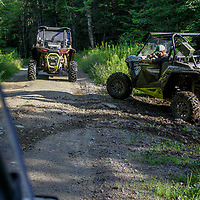 1 rzr on trail, 1 rzr pulling out of turnout, rzr, atv, utv, sxs, ohrv, orv, trail riding, hobby, adventure, sports, therapy, Click Stock Photography