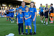 AFC Wimbledon defender Barry Fuller (2) posing with fans during the EFL Sky Bet League 1 match between AFC Wimbledon and Bury at the Cherry Red Records Stadium, Kingston, England on 5 May 2018. Picture by Matthew Redman.