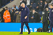 West Ham United Manager David Moyes scratches his head at full time during the Premier League match between Leicester City and West Ham United at the King Power Stadium, Leicester, England on 22 January 2020.
