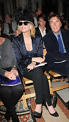 Kim Cattrall  and Bryan Ferry at the Philip Treacy show  at London Fashion Week for Spring/Summer 2013, Saturday, 15th September 2012 Photo by: Stephen Lock / i-Images
