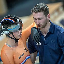 01-03-2018: Wielrennen: WK Baan: Apeldoorn<br />Shanne Braspennincx begon het sprint toernooi met een zevende plek in de kwalificatie en is door naar de achtste finale
