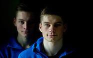 portret van de broertjes David en Mathieu van der Poel