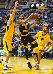 Dec 23, 2016; Morgantown, WV, USA; Northern Kentucky Norse guard Lavone Holland II (30) drives and shoots in the lane during the first half against the West Virginia Mountaineers at WVU Coliseum. Mandatory Credit: Ben Queen-USA TODAY Sports