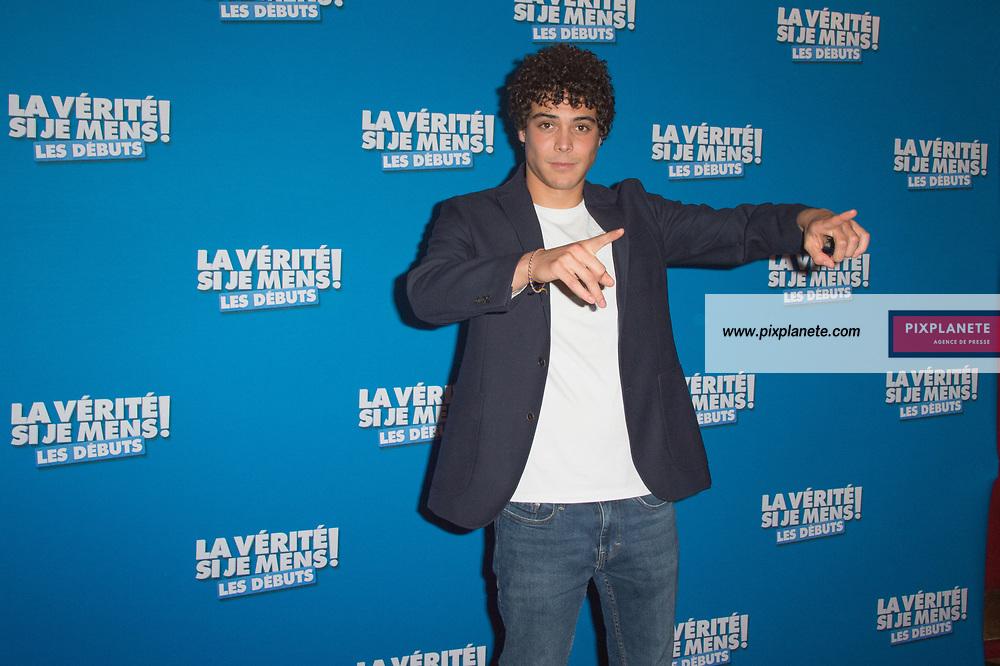 Mickael Lumière Avant première du film La vérité si je mens les débuts Mardi 15 Octobre 2019 Le Grand Rex Paris