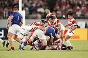 Shota HORIE (JPN) and Luke THOMPSON (JPN) during the Japan 2019 Rugby World Cup Pool A match between Japan and Russia at the Tokyo Stadium in Tokyo on September 20, 2019.