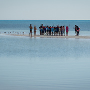 KEY BISCAYNE, FLORIDA, MARCH 22, 2017<br /> 125 fifth grade students from Citrus Grove Elementary School and the American Heritage School at tcollect water grass water samples in Crandon Park, Key Biscayne, Florida to test water quality, enter data and learn how they can improve the quality of water in their communities.  Phillipe Cousteau Jr., Co-Founder and President, EarthEcho International, and Miami Waterkeeper and educators from the Nature Center worked on the project together.<br /> (Photo by Angel Valentin/Freelance)