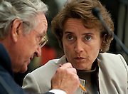 Jun 10, 2010 - Washington, District of Columbia, U.S., - Senator Blanche Lincoln confers with Senator Tom Harkin before the start of a House-Senate Conference committee on the Wall Street Reform and Consumer Protection Act on Capitol Hill Thursday..(Credit Image: © Pete Marovich/ZUMA Press)