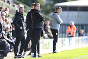 Forest Green Rovers head coach, Mark Cooper watches on during the EFL Sky Bet League 2 match between Forest Green Rovers and Mansfield Town at the New Lawn, Forest Green, United Kingdom on 19 October 2019.