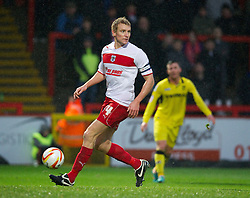 STEVENAGE, ENGLAND - Saturday, November 24, 2012: Stevenage's captain Mark Roberts in action against Tranmere Rovers during the Football League One match at Broadhall Way. (Pic by David Rawcliffe/Propaganda)