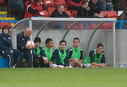 Kids on the bench - Stirling Albion v Dundee, IRN BRU Scottish League 1st Division, Forthbank Stadium, Stirling<br /> <br />  - &copy; David Young<br /> ---<br /> email: david@davidyoungphoto.co.uk<br /> http://www.davidyoungphoto.co.uk