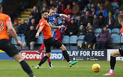 Marcus Maddison of Peterborough United shoots at goal - Mandatory by-line: Joe Dent/JMP - 03/02/2018 - FOOTBALL - ABAX Stadium - Peterborough, England - Peterborough United v Southend United - Sky Bet League One