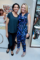 Left to right, MARGHERITA TAYLOR and SAM MANN at the opening of the new Melissa Odabash store in Walton Street, London SW3 on 7th July 2011.