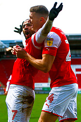Kyle Vassell of Rotherham United celebrates his goal - Mandatory by-line: Ryan Crockett/JMP - 18/01/2020 - FOOTBALL - Aesseal New York Stadium - Rotherham, England - Rotherham United v Bristol Rovers - Sky Bet League One