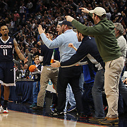 Ryan Boatright, UConn, is congratulated by fans after victory during the UConn Huskies Vs Tulsa Semi Final game at the American Athletic Conference Men's College Basketball Championships 2015 at the XL Center, Hartford, Connecticut, USA. 14th March 2015. Photo Tim Clayton