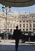 Entr&eacute;e du Ritz-Hotel, place Vendome, Paris, 2007.<br /> Voiturier at the entrance of Hotel Ritz Paris, France.