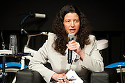"""Helena Durst, Vice President, Durst Organization on the panel, """"The Blue Network-Water Transportation"""" during Manhattan Chamber of Commerce's Transportation Transformation Global Summit at NYIT in New York on April 26, 2012."""
