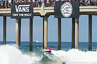 Huntington Beach, CA - August 06: Sage Erickson competes in the womens semi-finals heat at the Vans US Open of Surfing in Huntington Beach, California on August 6th, 2017. (Photo Jim Kruger/Kruger-images.com)