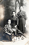females only studio group portrait Japan ca 1930s