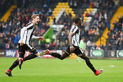Notts County forward Jonathan Forte (14) celebrates after scoring a goal to make it 1-0 during the EFL Sky Bet League 2 match between Notts County and Coventry City at Meadow Lane, Nottingham, England on 7 April 2018. Picture by Jon Hobley.
