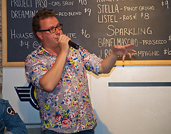 LOS ANGELES, USA - Tuesday, July 26, 2016: Neil Atkinson during an Anfield Wrap live podcast on day six of Liverpool FC's USA Pre-season Tour. (Pic by David Rawcliffe/Propaganda)