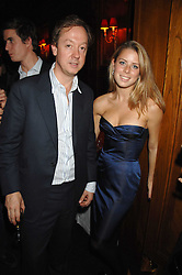 GEORDIE GREIG and LYDIA FORTE at a party to celebrate the publication of the 2007 Tatler Little Black Book held at Tramp, 40 Jermyn Street, London on 7th November 2007.<br />