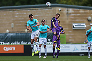 Forest Green Rovers Paul Digby(20) heads the ball clear during the EFL Sky Bet League 2 match between Forest Green Rovers and Port Vale at the New Lawn, Forest Green, United Kingdom on 8 September 2018.