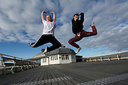Millie Duniam (left) and Ellis Cook (right) long standing members of Marlene's Dance School and child cast members of Cromer's Seaside Special summer show are off to top dance schools in London.<br /> <br /> Picture: MARK BULLIMORE
