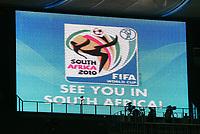 Fotball<br /> VM 2006<br /> VM 2010 Sør Afrika<br /> Foto: Witters/Digitalsport<br /> NORWAY ONLY<br /> <br /> Anzeigentafel Fussball WM 2010 in Sue Afrika<br /> Fussball WM 2006 Finale Italien - Frankreich