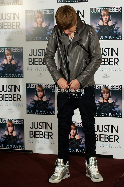Justin Bieber attends a photocall for MY WORLD-The Collection at Urban Hotel on November 29, 2010 in Madrid, Spain