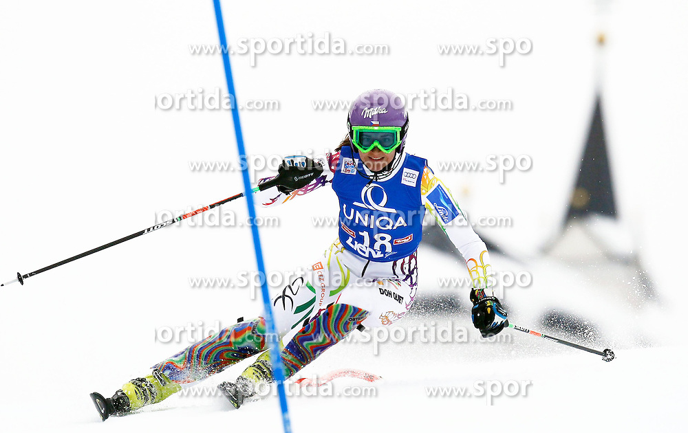 29.12.2013, Hochstein, Lienz, AUT, FIS Weltcup Ski Alpin, Damen, Slalom 2. Durchgang, im Bild Sarka Strachova (CZE) // Sarka Strachova of (CZE) during ladies Slalom 2nd run of FIS Ski Alpine Worldcup at Hochstein in Lienz, Austria on 2013/12/29. EXPA Pictures © 2013, PhotoCredit: EXPA/ Oskar Höher