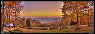 Panoramic photograph of spectacular view of Blue Ridge Mountains in Virginia.  Print Size (in inches): 15x5.5; 24x9; 36x13; 40x15; 48x17; 60x21.5; 72x26