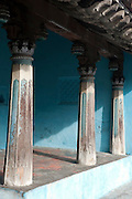 Detail of pillar. Home in Karaikal. Puducherry