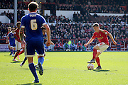 Nottingham Forest midfielder Ben Osborn  during the Sky Bet Championship match between Nottingham Forest and Brentford at the City Ground, Nottingham, England on 2 April 2016. Photo by Chris Wynne.