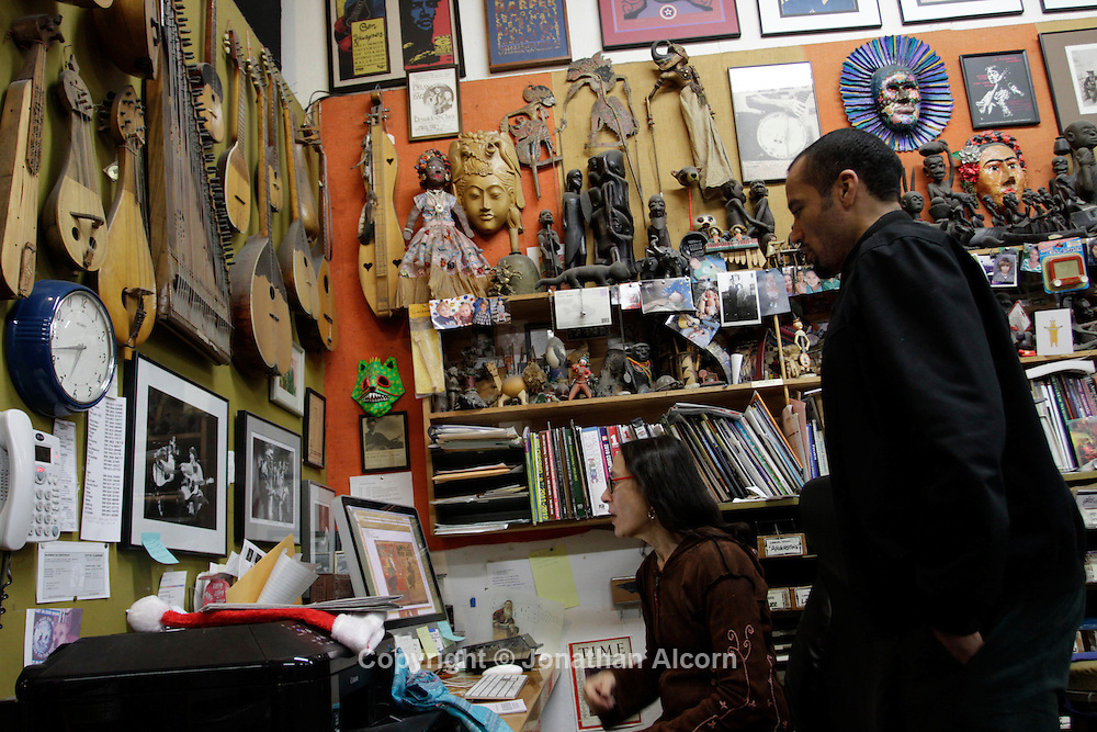 Ben Harper at his family music store in Claremont, California, U.S. December 8, 2012 ©Jonathan Alcorn/JTA.