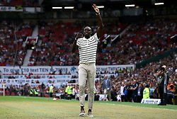 World XI's Usain Bolt prior to the UNICEF Soccer Aid match at Old Trafford, Manchester.