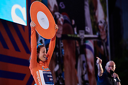 GC winner, Ruth Winder (USA) after Stage 4 of 2020 Santos Women's Tour Down Under, a 42.5 km road race in Adelaide, Australia on January 19, 2020. Photo by Sean Robinson/velofocus.com