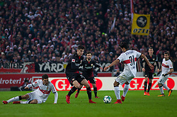 December 8, 2017 - Stuttgart, Germany - Leverkusens Kai Havertz in a duel with Stuttgarts Berkay Ozcan during the Bundesliga match between VfB Stuttgart and Bayer 04 Leverkusen at Mercedes-Benz Arena on December 8, 2017 in Stuttgart, Germany. (Credit Image: © Bartek Langer/NurPhoto via ZUMA Press)