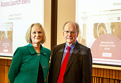Pictured: Karen Watt, Chief Executive Officer, Scottish Funding Council and Professor Sir Peter Scott,<br />