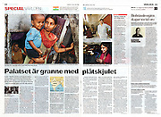 'The palace in neighbor with the shed', article in the Swedish newspaper Dagens Nyheter