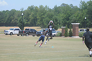 D.K. Metcalf (right) attends the Southern Elite Combine at FNC Park in Oxford, Miss. on Wednesday, July 10, 2013.