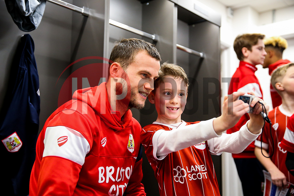 Luke Steele of Bristol City looks on during the Mascot dressing room visit - Rogan/JMP - 27/01/2018 - Ashton Gate Stadium - Bristol, England - Bristol City v Queens Park Rangers - Sky Bet Championship.