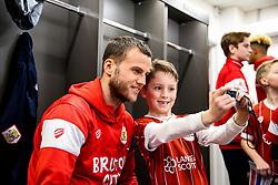 Luke Steele of Bristol City looks on during the Mascot dressing room visit - Rogan/JMP - 27/01/2018 - Ashton Gate Stadium - Bristol, England - Bristol City v Queens Park Rangers - Sky Bet Championship.