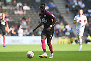 Peterborough United forward Mohamed Eisa (7)  looks to release the ball during the EFL Sky Bet League 1 match between Milton Keynes Dons and Peterborough United at stadium:mk, Milton Keynes, England on 24 August 2019.
