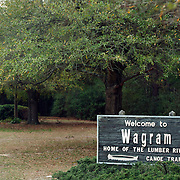 The Town of Wagram is located in the Southeastern part of North Carolina. The Lumber River is a blackwater river that flows freely for 115 miles through the Sandhills region of North Carolina and crosses into South Carolina where it joins the Little Pee Dee River. This National Wild and Scenic River Lumber River State Park is best visited by canoe or small boat. The river holds many twists and turns and has lots of feeder streams to explore..