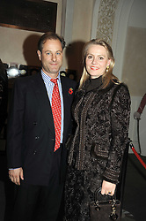 VISCOUNT & VISCOUNTESS CHELSEA at a party to celebrate the publication of 'Past Imperfect' by Julian Fellowes held at Cadogan Hall, 5 Sloane Terrace, London SW1 on 4th November 2008.