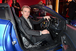 JAMIE CAMPBELL BOWER at the launch of the new Ferrari 488 Spider held at Watches of Switzerland, 155 Regent Street, London on 25th February 2016.
